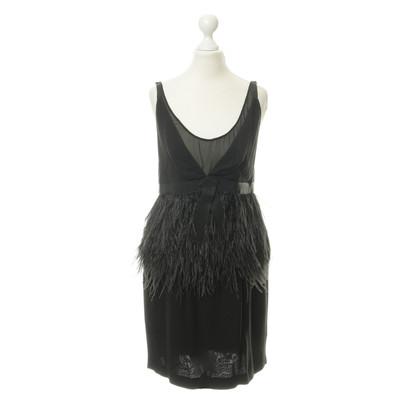 Schumacher Black dress with feather detail
