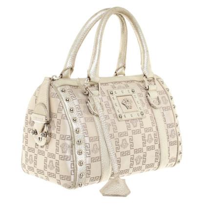 Versace Silberfarbene Handtasche