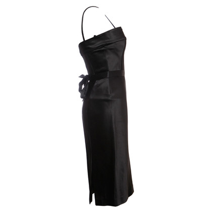 Gucci black satin evening dress