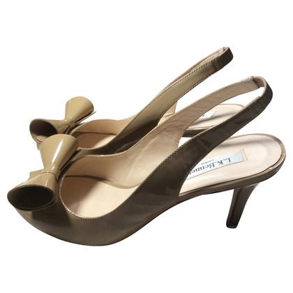L.K. Bennett Slingback peep-toes in beige