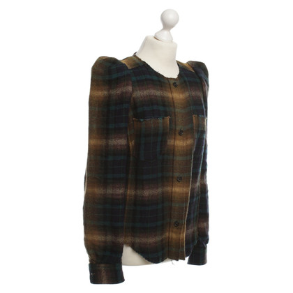 Isabel Marant Plaid Blazer with puffy sleeves