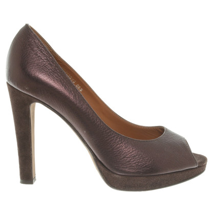 Hugo Boss Peeptoes in Brown