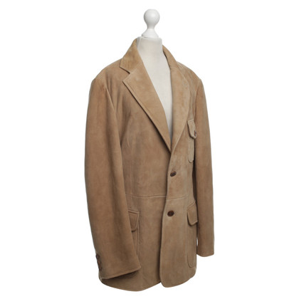 Armani Leather Jacket in Beige