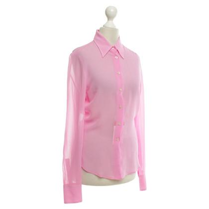 Versace Blouse in dark pink
