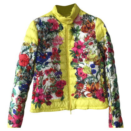 Moncler Quilted jacket with a floral pattern