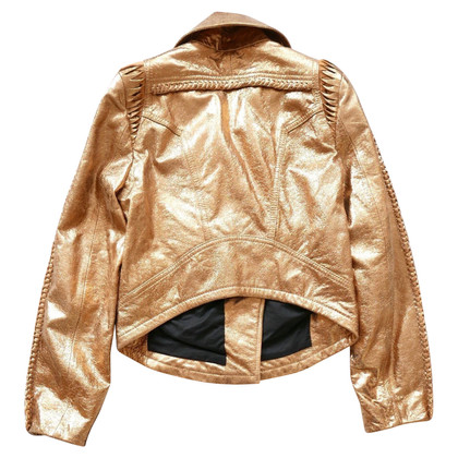 Faith Connexion Golden leather jacket