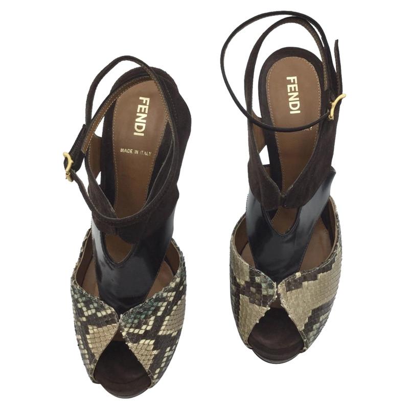 Fendi Sandals Leather - Second Hand