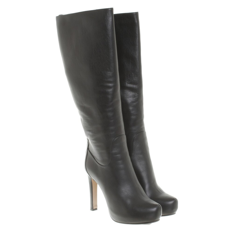 Max Mara Leather boots with heel