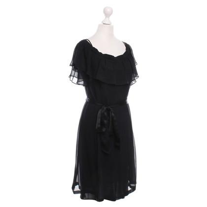 Rena Lange zwarte jurk met riem, Gr. 34