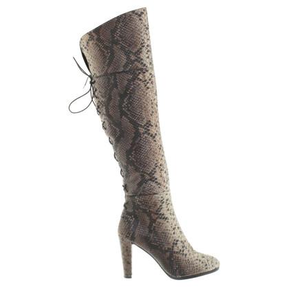 Stuart Weitzman Overknee-Stiefel aus Pythonleder
