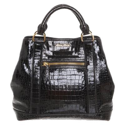 Miu Handbag In Dark Brown