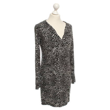 Diane von Furstenberg Dress in Black / White