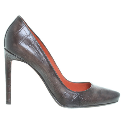 Santoni Pumps in Reptil-Optik