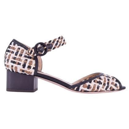 Dolce & Gabbana Gevlochten lederen sandalen Brown