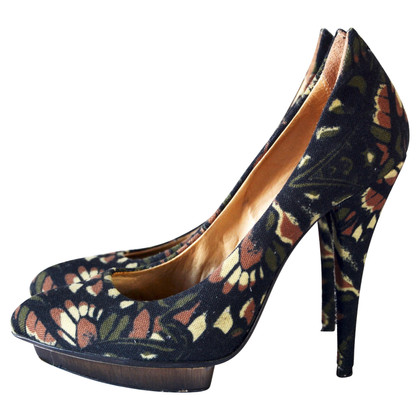 Alexander McQueen abstracte bloemenafdruk High Heels