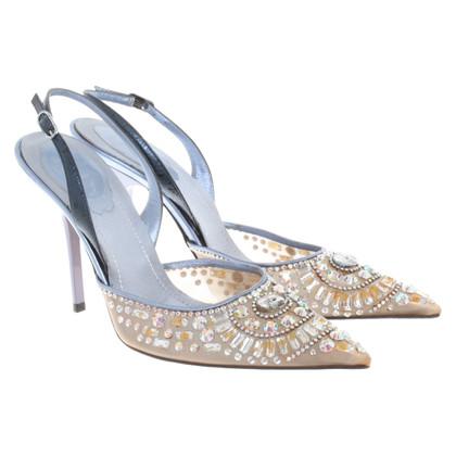 René Caovilla Sling-pumps with gemstones