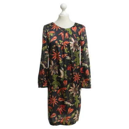 L'autre Chose Silk dress with floral print