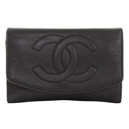 Chanel Wallet of caviar leather