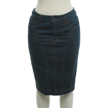 McQ Alexander McQueen Jupe en jean en bleu