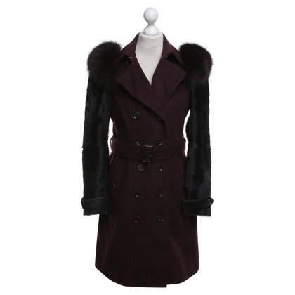 Burberry Prorsum Trench coat with fur trim