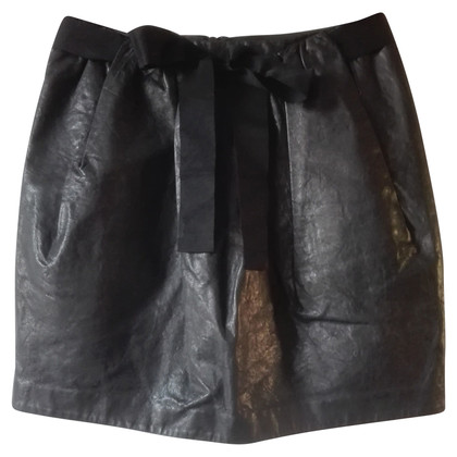 3.1 Phillip Lim Black Leather mini skirt