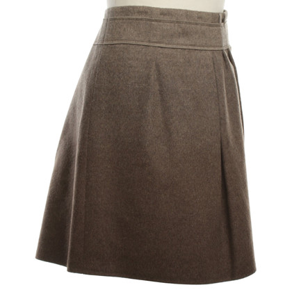 Brunello Cucinelli Wollen rok in taupe