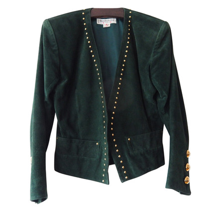 Yves Saint Laurent Giacca in pelle scamosciata