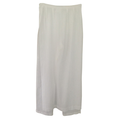René Lezard Trouser skirt in white