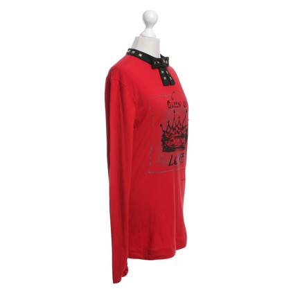 Moschino Love top in red