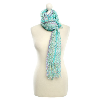 Missoni Scarf with crochet pattern