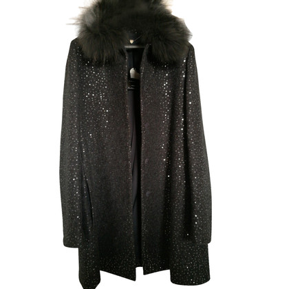 Twin-Set Simona Barbieri Coat in cloth, lace and sequins