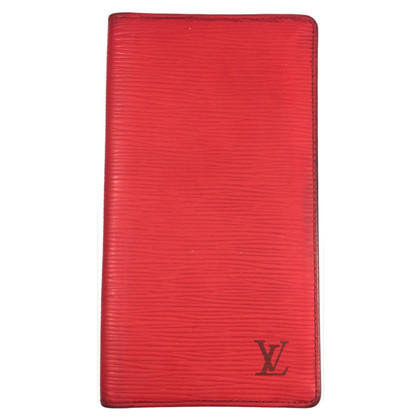 Louis Vuitton Kartenetui red Epileder