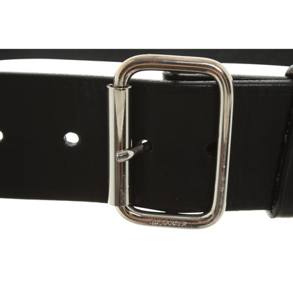 Jil Sander Leather belt in black