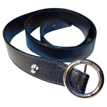 D&G Leather belt in black