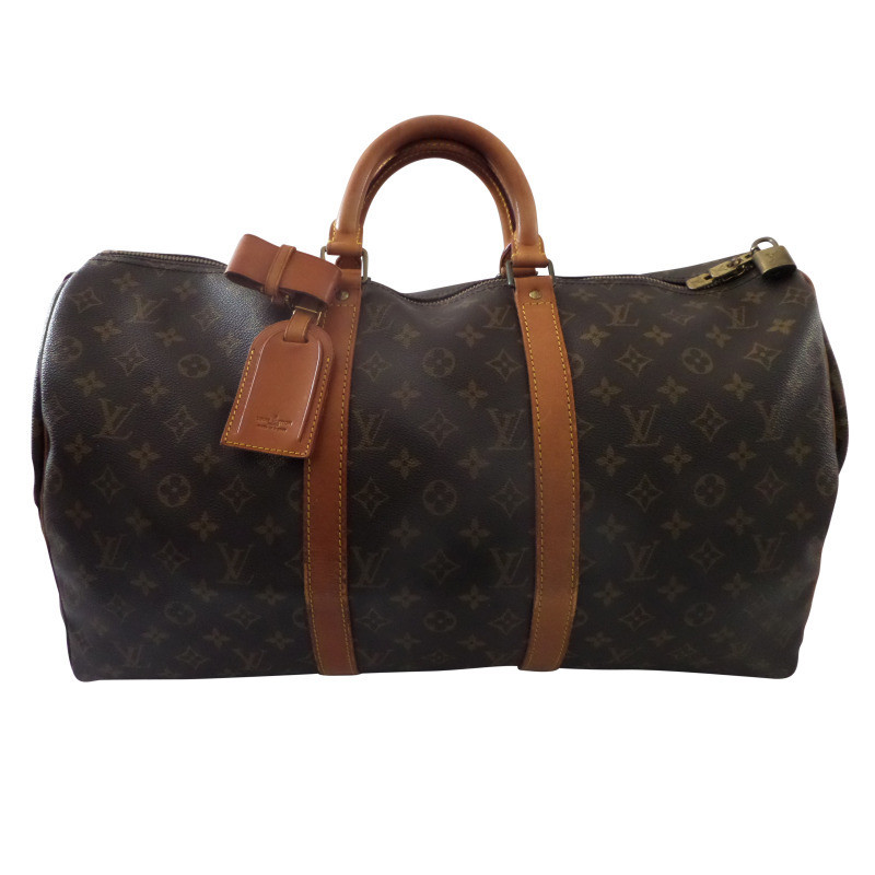 louis vuitton keepall 50 travel bag vintage buy second hand louis vuitton keepall 50 travel. Black Bedroom Furniture Sets. Home Design Ideas