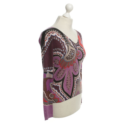 Etro top with colorful patterns