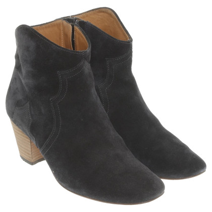 Isabel Marant Suede ankle boots in black