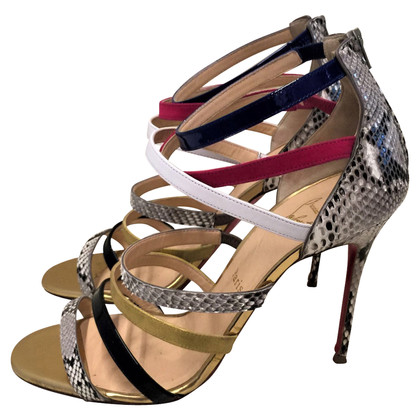 Christian Louboutin Leather Sandals Python