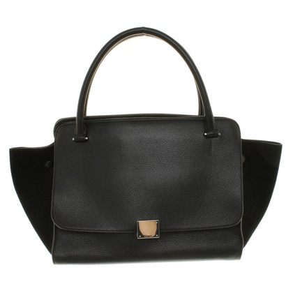 "Céline ""Trapeze Bag Large"" in Schwarz"