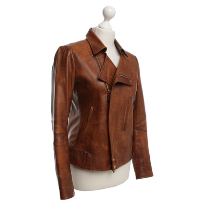 Gucci Leather jacket in brown