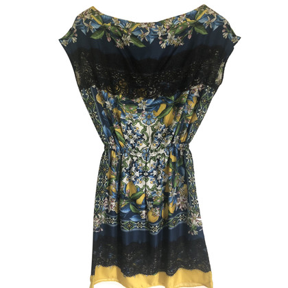Dolce & Gabbana zijden jurk met patroon
