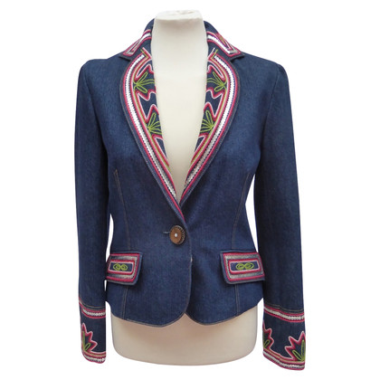 Christian Dior Denim-Blazer mit Stickerei