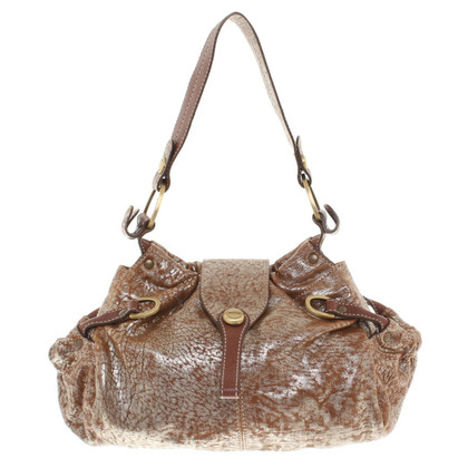 Hogan Gold shiny handbag
