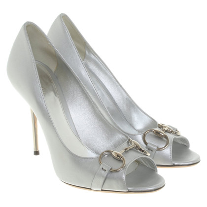 Gucci Peeptoes d'argento