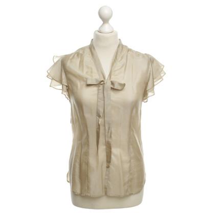 Jean Paul Gaultier Silk blouse beige