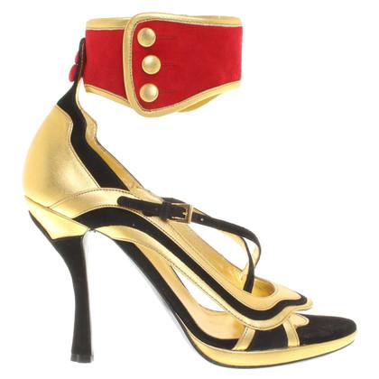 Prada Sandaletten in Tricolor