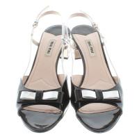 Miu Miu Sandals in black