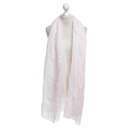 Bruno Manetti Pink linen scarf