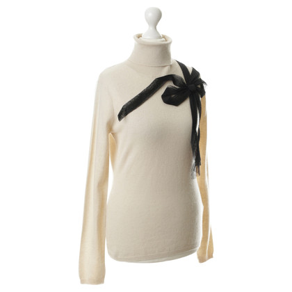 Red Valentino Turtleneck Sweater with decorative loop