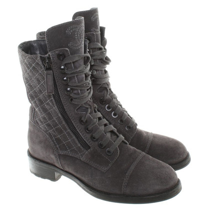 Chanel Boots in dark gray